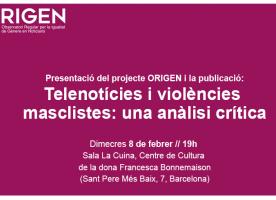 'Telenotícies i violències masclistes', 8 de febrer