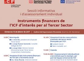 Instruments financers de l'ICF d'interès per al Tercer Sector, 15 de febrer
