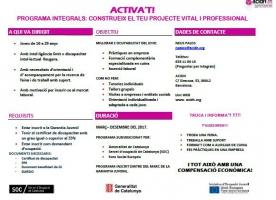 ACTIVA'T, formació dins del Programa Integrals d'acidH, al març