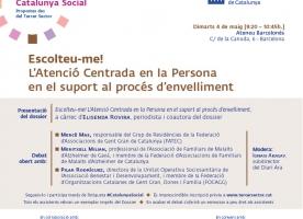 'Escolteu-me!', debat sobre atenció centrat en la persona i l'envelliment, 4 de maig