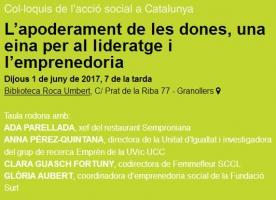 'L'apoderament de les dones, una eina per al lideratge i l'emprenedoria', 1 de juny