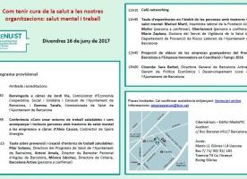 'Com tenir cura de la salut a les nostres organitzacions: salut mental i treball', 16 de juny