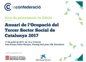 Presentació de l'Anuari de l'Ocupació del Tercer Sector de Catalunya 2017, 11 de juliol