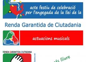 Celebració de la Renda Garantida de Ciutadania, 15 de setembre a Barcelona