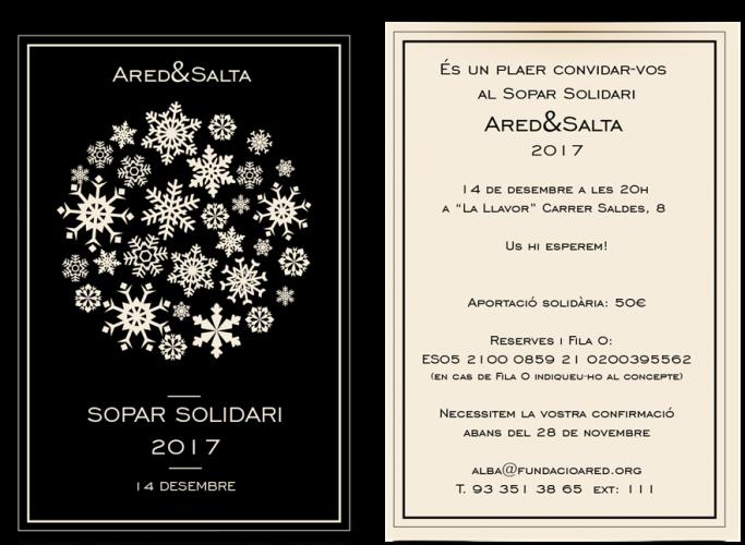 Sopar solidari Ared&Salta, 14 de desembre