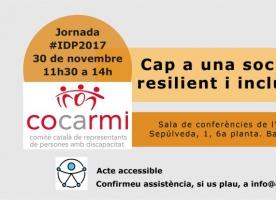 Jornada 'Cap a una societat resilient i inclusiva', 30 de novembre