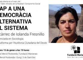 Xerrada-col·loqui 'Cap a una democràcia econòmica alternativa al sistema', 15 gener