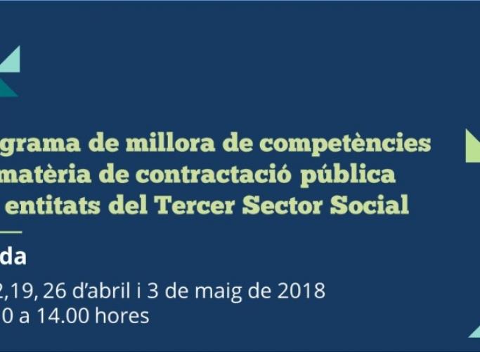 Programa de millora de competències en matèria de contractació pública per entitats a Tarragona i a Lleida