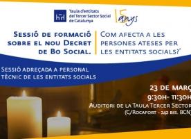 Sessió formativa sobre el nou Decret de Bo Social, 23 de març