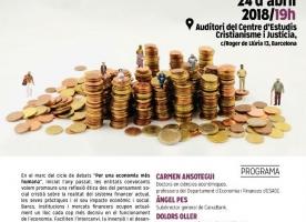 Seminari-debat 'Ètica i praxi financera', 24 d'abril
