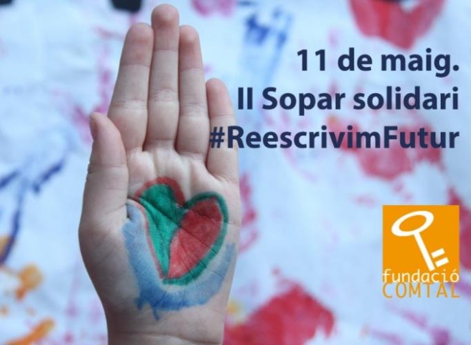 II Sopar solidari #ReescrivimFutur, 11 de maig