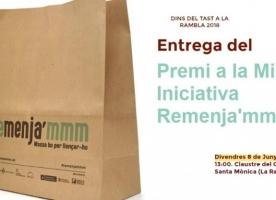 Acte d'entrega del Premi a la millor iniciativa Remenja'mmm, 8 de juny