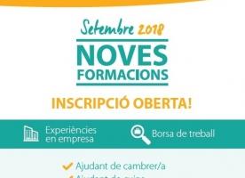 Formacions per a joves del Casal dels Infants, setembre