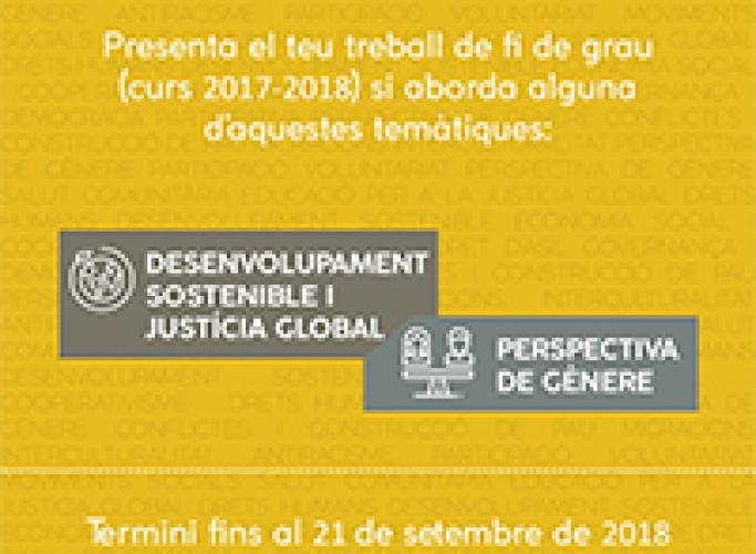 Premis a Treballs Fi de Grau de la Fundació Autònoma Solidària