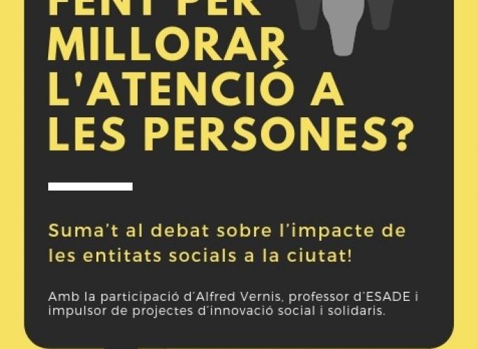 Taula-debat sobre l'atenció social a Badalona, 26 de setembre