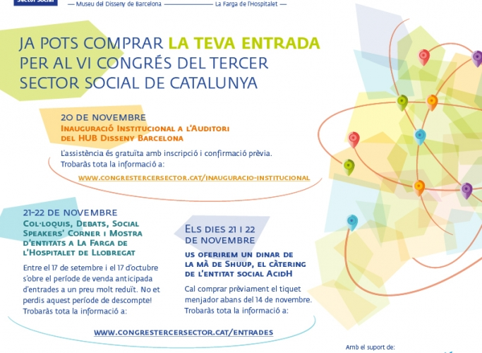 Ja a la venda les entrades per al VI Congrés del Tercer Sector Social de Catalunya