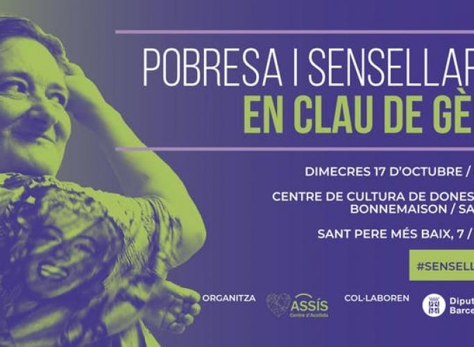 Jornada 'Pobresa i sensellarisme en clau de gènere', 17 d'octubre