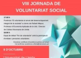8ª jornada de voluntariat social a Lleida, 9 d'octubre