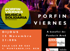 Concert de PorFinViernes en favor d'Ared, 15 de novembre