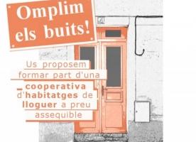 Neix la cooperativa d'habitatges de lloguer assequible 'Omplim els Buits'