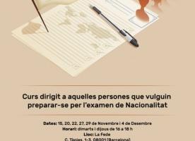 Curs de preparació de l'examen de Nacionalitat, novembre