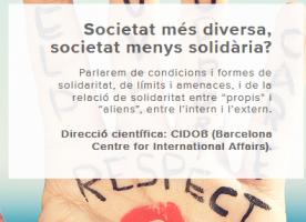 Cicle de conferències 'Societat més diversa, societat menys solidària?', novembre