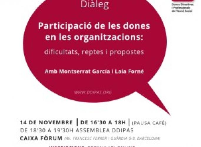 6è Diàleg DDiPAS 'Participació de les dones en les organitzacions', 14 de novembre