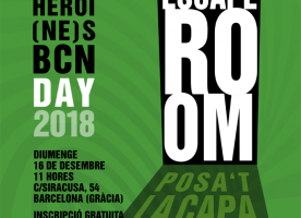 Escape room per al Superheroi(ne)s BCN Day, 16 de desembre