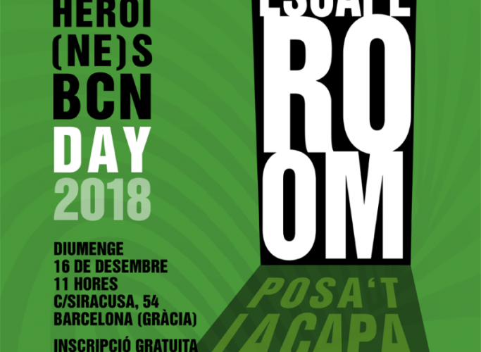 Escape room per al Superheroi(ne)s BCN Day, 16 de desembre