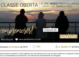 Classe oberta sobre el dol migratori en els joves i infants que arriben sols, 22 de febrer