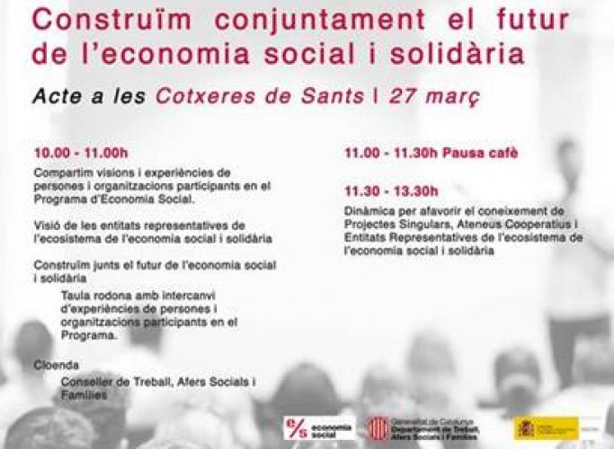 'Construïm conjuntament el futur de l'Economia Social i Solidària', 27 de març