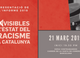 Informe 2018 sobre el racisme a Catalunya, 21 de març