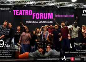 Actuació de Teatre Fòrum Intercultural i debat, 9 d'abril