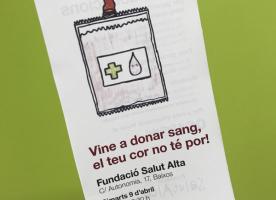 Campanya de donació de sang a la Salut Alta, 9 d'abril