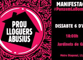 Manifestació #PunxemLaBombolla per uns lloguers assequibles, 6 d'abril