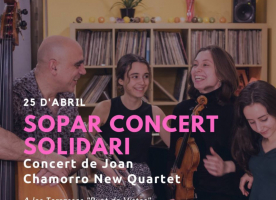 Sopar i concert de Joan Chamorro New Quartet a favor d'acidH, 25 d'abril