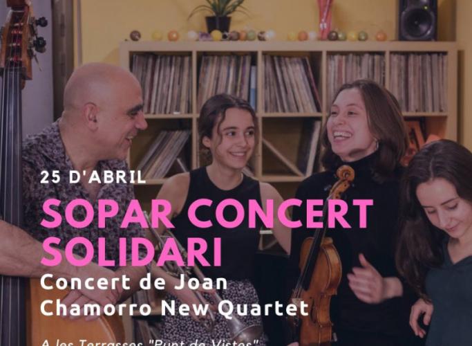 Sopar i concert de Joan Chamorro New Quartet a favor d'acidH, 25 d'abril