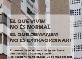 Propostes urgents per millorar la situació de les persones més vulnerables de les entitats vinculades a la Companyia de Jesús de Catalunya