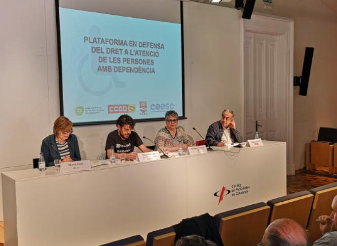 74.000 persones esperen l'ajut a la dependència a Catalunya i el sector viu una situació d'emergència que impedeix complir amb els drets de les persones usuàries i de les professionals