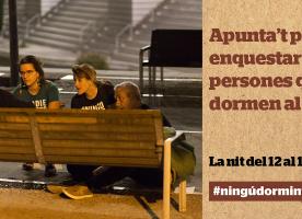 Cens de persones sense llar a Barcelona, nit del 12 al 13 de juny