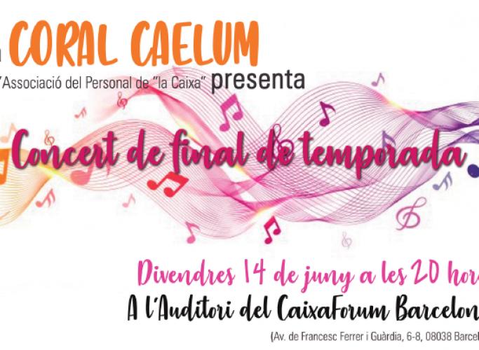 Concert solidari de la Coral Caelum a favor de la Fundació Quatre Vents, 14 de juny