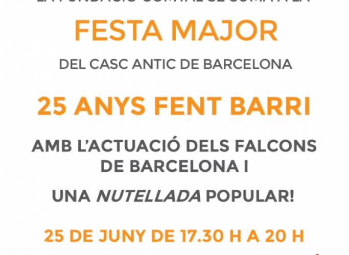 Nutellada popular i actuació dels Falcons de Barcelona a la festa major del Casc Antic