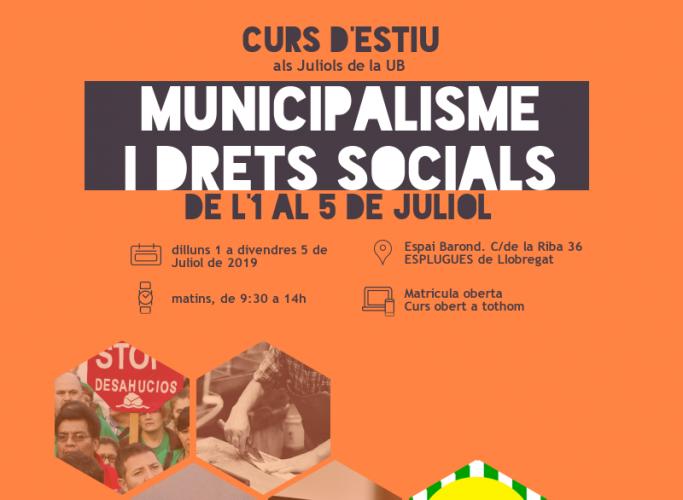 Curs 'Municipalisme i drets socials', primera setmana de juliol