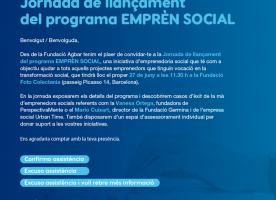 Jornada Emprèn Social, 27 de juny