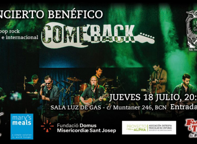 Concert solidari de ComeBack a favor de Formació i Treball, entre d'altres entitats