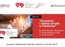 Jornada sobre innovació i reptes socials a Catalunya, 18 de setembre
