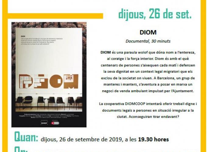 Cinema a la fresca a L'Hospitalet: documental 'Diom', 26 de setembre