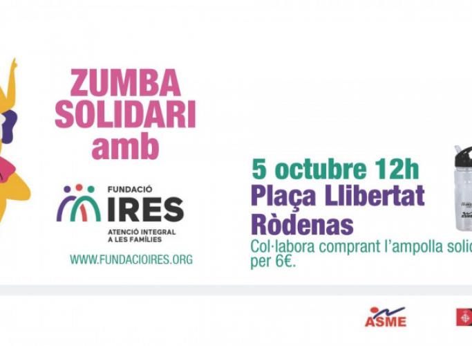Zumba solidari a favor de la Fundació IReS, 5 d'octubre