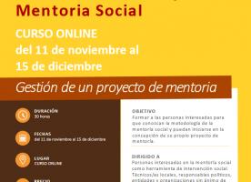 Formació online en gestió de projectes de mentoria social, de novembre a desembre