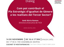 7è Diàleg DDiPAS sobre el Pla Estratègic d'Igualtat de Gènere, 14 de novembre